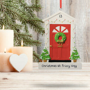 Personalised Christmas Decoration Front Door Family Customised Gift
