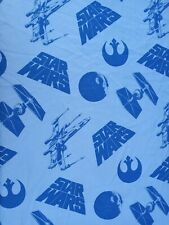 Star Wars Twin Flat Fitted Sheet Bedding Blue Jay Franco X-wing Tie Fighter