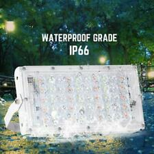 50W RGB LED Flood Light Outdoor Security Waterproof Spotlight Remote Control NEW