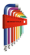PB Swiss Tools PB 212.H-10 RB Hex Key Set Ballpoint Metric Rainbow 1.5-10mm 9pc
