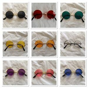 60s 70s Groovy Round Hippie/hippies hippy Glasses Party Costume different colour