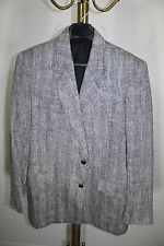 Men's Sz 42R~Pioneer Wear~Gray~Western~Cowboy~Blazer~LINEN~Herringbone~Tweed~USA