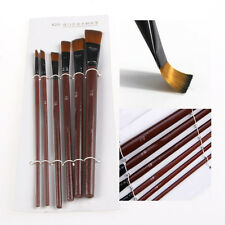 6Pcs Nylon Acrylique Peinture à l'huile Gouache Pinceaux Artistes Fournitures
