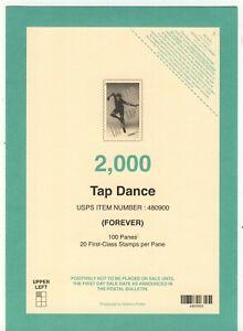 USPS 2021 Tap dance forever stamps top deck card mint postal service