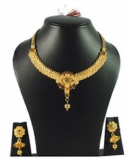 Joovaa South Indian Traditional Jewellery Gold Tone Designer Necklace set
