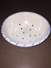 Pottery Blue And White Colander