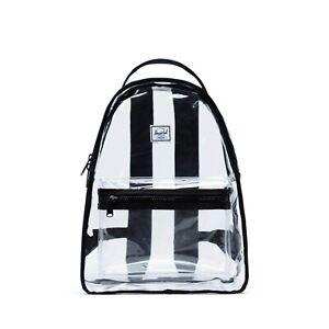 HERSCHEL Supply Co CLEAR Mid Volume NOVA Transparent Unisex BACKPACK Bag NEW