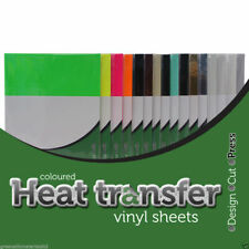 5 x A4 Premium Heat Transfer Vinyl - HTV - Iron on Sheets for T shirt making