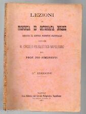 LEZIONI DI PRONUNZIA ED ORTOGRAFIA INGLESE del Prof. Pio Simonetti 1907