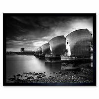 Warby Thames Barrier Shot Long Exposure Photo Wall Art Print Framed 12x16