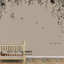 Bird Cage Vine Wall Stickers Wall Decal Removable Kids Art Nursery Decor Deco AU