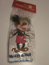 "VINTAGE Walt Disney Mickey Mouse hand puppet  CLOTH BODY PLASTIC HEAD 10"" sealed"