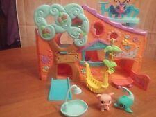 Littlest Pet Shop Tree Club House Orange  Hasbro W/ Pets & Accessories   Tote 15