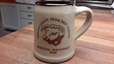 Warren County Prime Beef Festival Pottery Stein/Mug 1975 Maple Leaf USA Imprint
