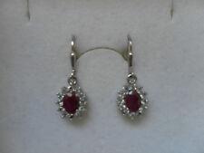 Traumhaft schöne Ohrhänger mit Rubin und Weißtopas in 925er Sterling Silber