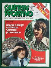 GUERIN SPORTIVO 1977 n 30 , POSTER CALENDARIO SERIE A KEEGAN CRUIJFF P.FRAMPTON