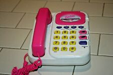 1996 RARE Barbie Super Talking Phone/answering Machine-Used-Works