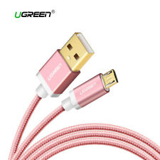 Cable Micro USB carga rapida reforzado movil tablet UGREEN rosa metalizado 1M 2M