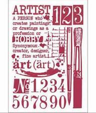 Stamperia A4 Mix Media Stencil –  Artist KSG423 New