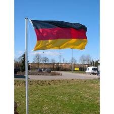 Teleskop Fahnenmast 4m Aluminium Flaggenmast inkl. Deutschland Fahne
