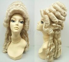 Marie Antoinette Wig Blonde Costume Colonial Baroque Historical Masquerade Updo