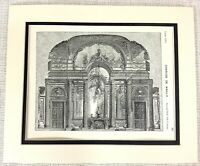 1903 Antique Print French Architectural Interior Louis XVI Charles De Wailly