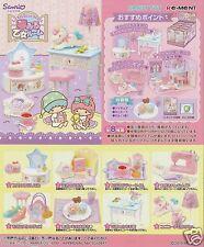 New Arrival  Re-ment Sanrio Miniature Little Twin Stars Dream Girl Room 8 PCS