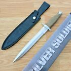 """Rough Ryder Dagger Fixed Knife 9"""" Stainless Steel Blade Wire Wrapped Handle"""
