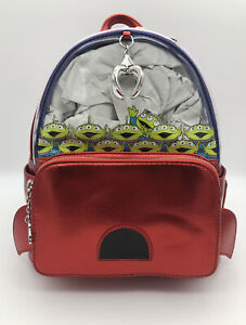 Loungefly Disney Toy Story Little Green Men Aliens The Claw Mini Backpack Bag
