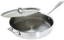 Brand New All Clad Allclad Stainless Steel 6 Quart Saute Pan w/ Lid - USA Made