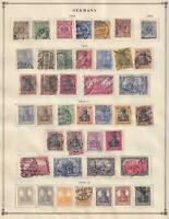 GERMANY  NICE COLLECTION  FROM INTERNATIONAL ALBUM PART 1 1840 - 1940  Z292