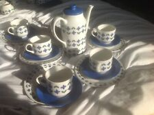 Midwinter Roselle Coffee Pot And 5 Trios