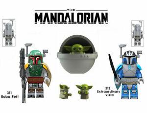 Star Wars Baby Yoda The Mandalorian  NEW MINIFIGURE PLAYS WITH LEGO