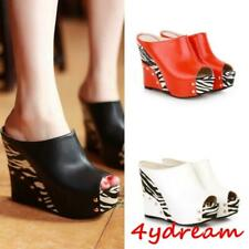 Fashion Women Platform Wedge Heel Slipper Peep Toe Roman Sandal Shoes New