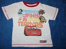 T-shirt blanc Cars McQueen garçon taille 4 ans Disney La Halle