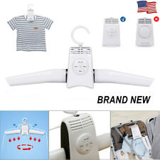 Portable Electric Folding Clothes Hanger Shoes Dryer Travel Laundry Drying Rack