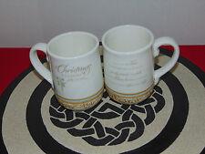 IRISH BLESSING CHRISTMAS COFFEE / TEA MUGS SET OF 2  16OZ CUPS