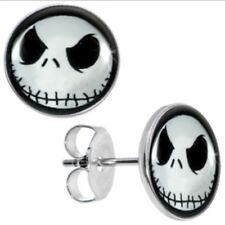 Jack Skellington Nightmare Before Christmas Stud Earrings Goth Quality UK Seller