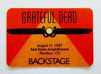 Grateful Dead Backstage Pass Red Rocks Colorado CO 8/11/87 8/11/1987 Griffin Art