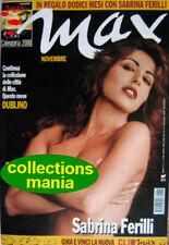 Max-'99-SABRINA FERILLI,David Bowie,Luciana Littizzetto,Mira Sorvino,Eurythmics
