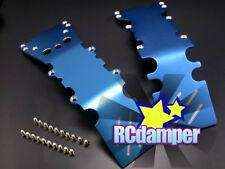 ALUMINUM FRONT+REAR SKID PLATE B TRAXXAS E-MAXX 3903 3905 3908 BRUSHLESS ALLOY