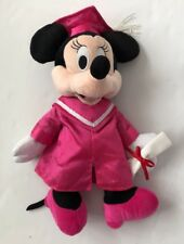 DISNEY Minnie Mouse 13in Plush Stuffed Animal Graduation Pink Cap Gown Graduate