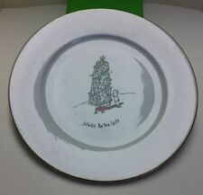 Dayton Hudson Merry Masterpieces Leaning Tower of Pisa Dinner Plate 10.5 Inches