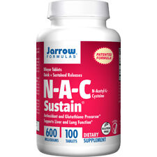 N-A-C Sustain Jarrow 600mg x 100 Tablets, NAC,  Jarrow Formulas