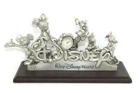 Disney Family Pewter Clock Walt Disney World Limited Edition 2460/3000 Rare