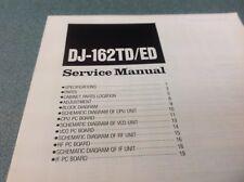 ALINCO DJ162TD/ED ALINCO Manuale di servizio originale