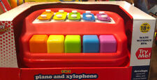 NEW! Play Right 2 in 1 Piano + Xylophone Colorful Keys and Chimes Musical Toy