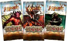 Magic Mtg Zendikar Factory sealed Booster Pack X 3 !