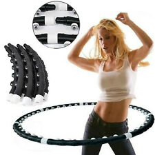 PROFESSIONAL Weighted Magnetic Hula Hoop ABS Fitness Exercise Massager Workout