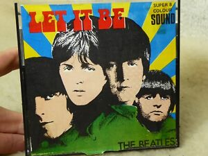 super 8 eight colour sound  film Beatles LET IT BE.color.VERY RARE  100 ft long